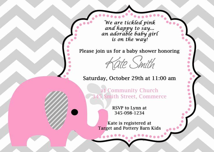 Baby Girl Shower Invitation Ideas Luxury 10 Best Cute Baby Shower Invitation Ideas Images On