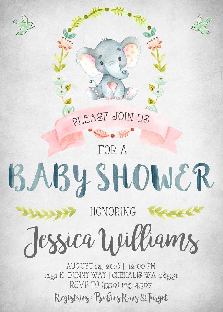 Baby Girl Shower Invitation Ideas Unique 25 Best Ideas About Baby Shower Invitations On Pinterest