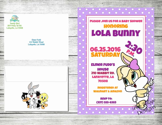 Baby Looney Tunes Invitation Awesome Looney Tunes Baby Shower Invitations Bugs by