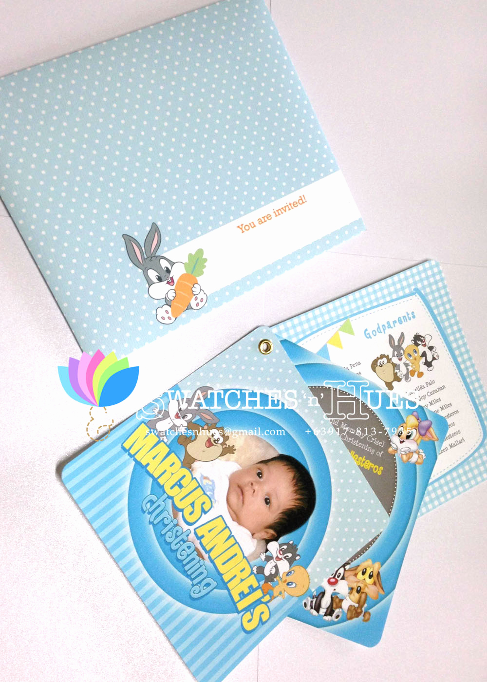 Baby Looney Tunes Invitation Awesome Swatches & Hues Handmade with Tlc Looney Tunes Baby