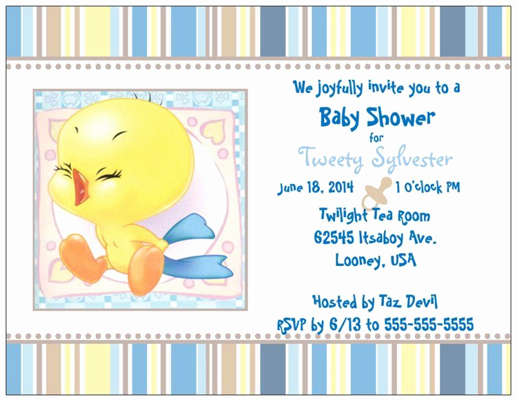 Baby Looney Tunes Invitation Best Of I tought I Taw An Adorable Shower Invitation and I Did