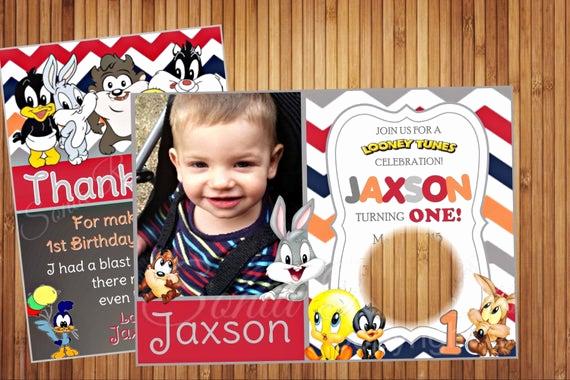 Baby Looney Tunes Invitation Elegant Baby Tunes Invitation Invitation Looney Tunes
