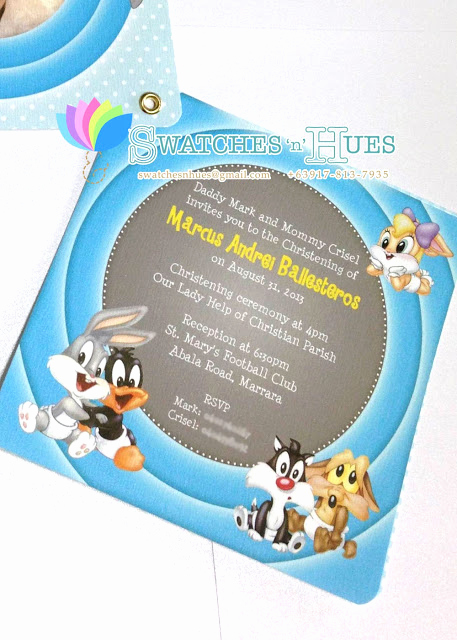 Baby Looney Tunes Invitation Elegant Swatches & Hues Handmade with Tlc Looney Tunes Baby