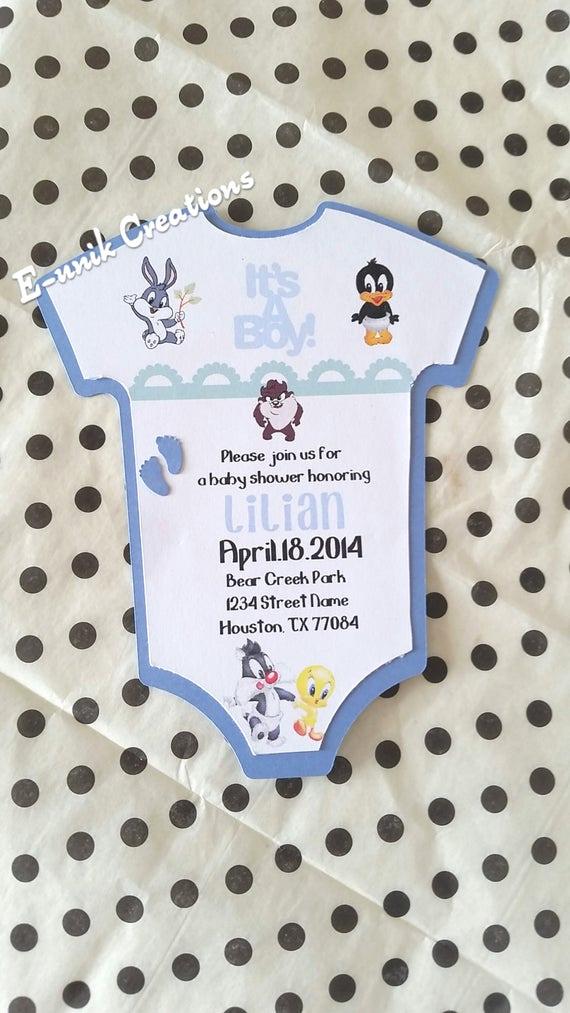 Baby Looney Tunes Invitation Fresh Looney Tunes Baby Shower Invitation
