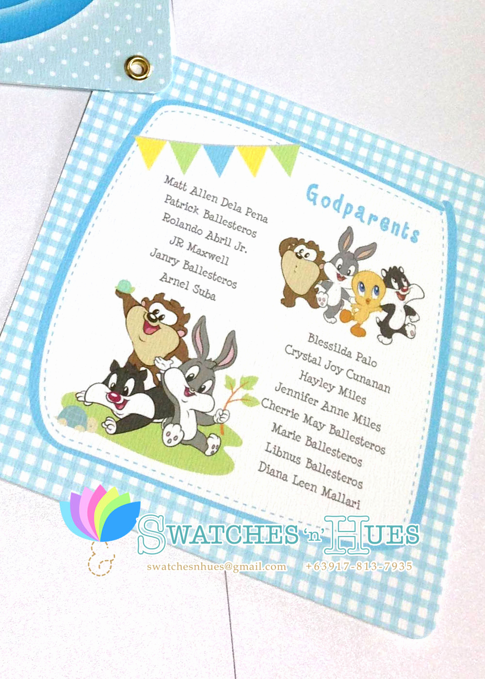 Baby Looney Tunes Invitation Inspirational Swatches & Hues Handmade with Tlc Looney Tunes Baby