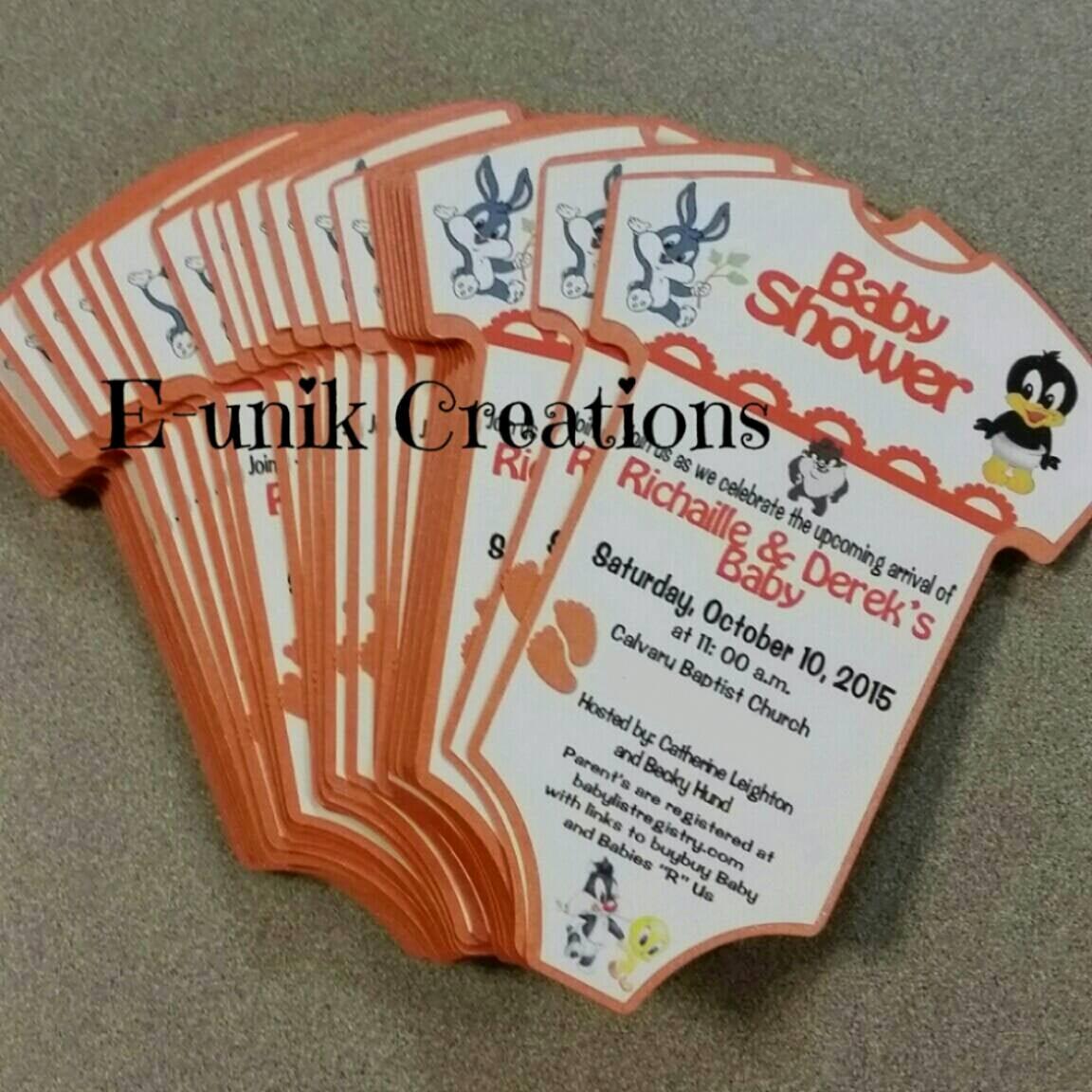 Baby Looney Tunes Invitation New Looney Tunes Baby Shower Invitation