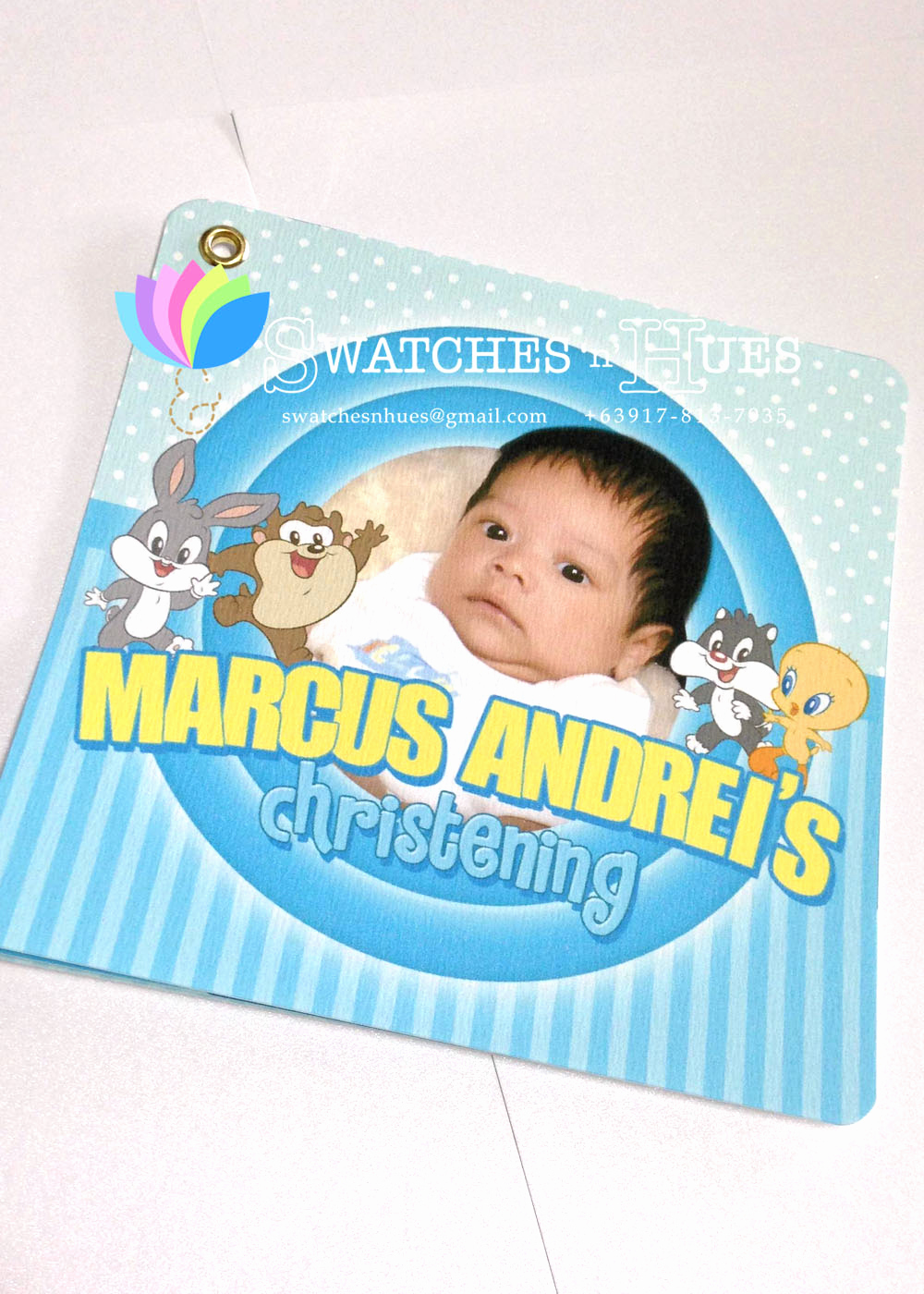 Baby Looney Tunes Invitation New Swatches & Hues Handmade with Tlc Looney Tunes Baby