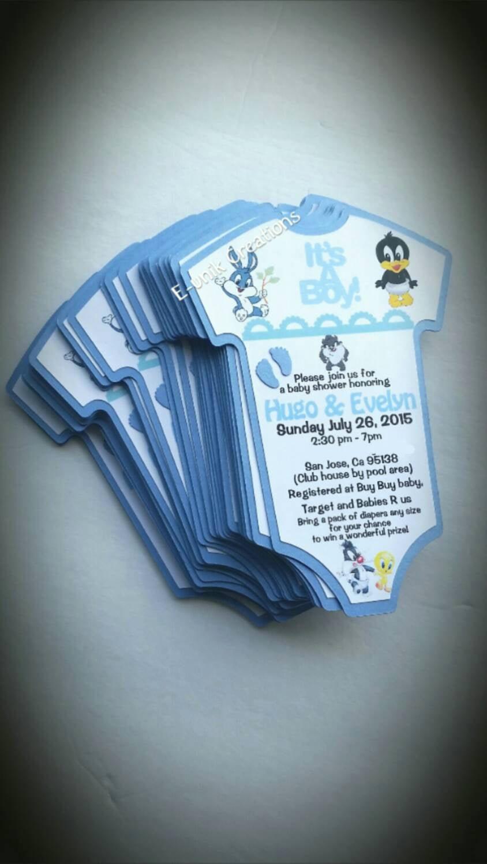Baby Looney Tunes Invitation Unique Looney Tunes Baby Shower Invitation