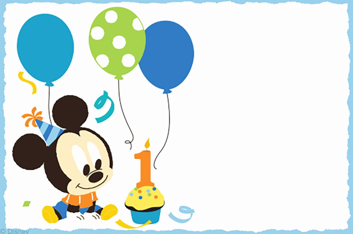 Baby Mickey Invitation Template Awesome Mickey Mouse Free Printable Invitation Templates