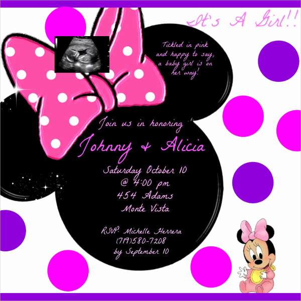 Baby Mickey Invitation Template Beautiful 53 Baby Shower Invitations Designs Psd Ai Word Eps