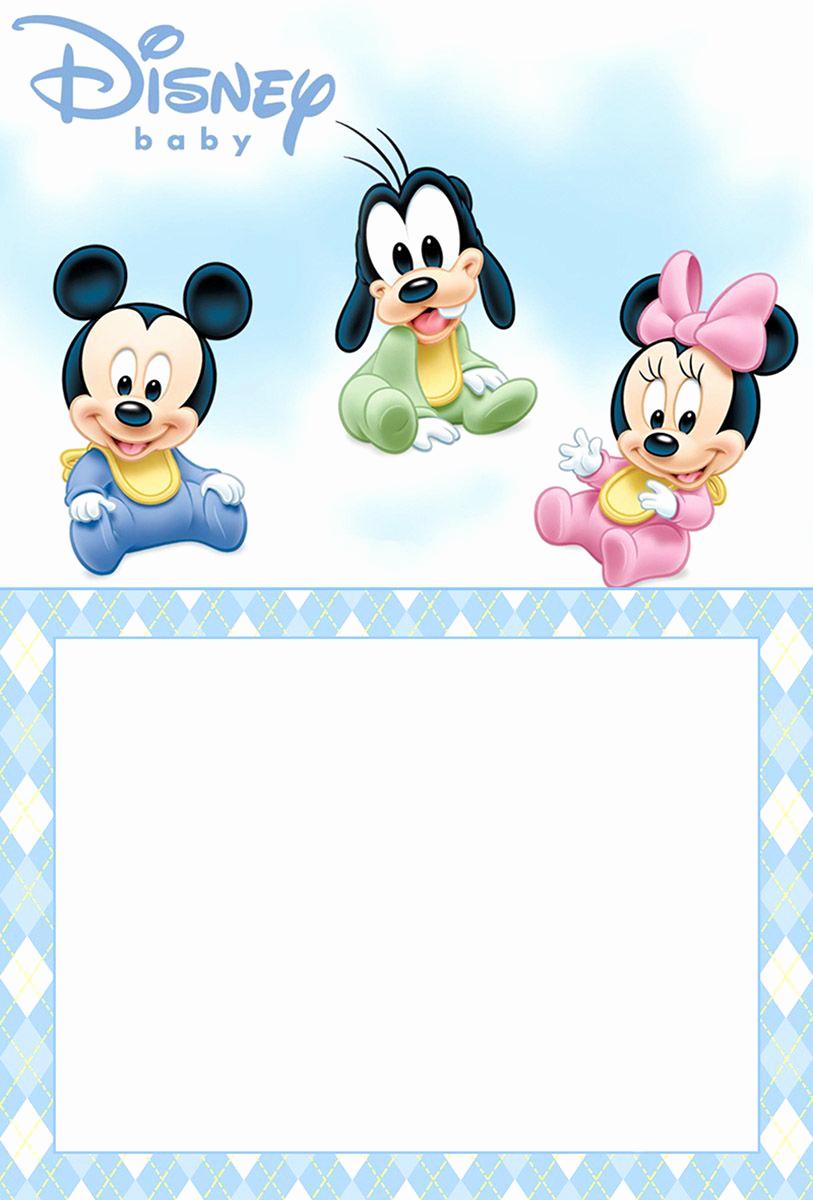 Baby Mickey Invitation Template Beautiful Free Printable Disney Baby Invitation Template