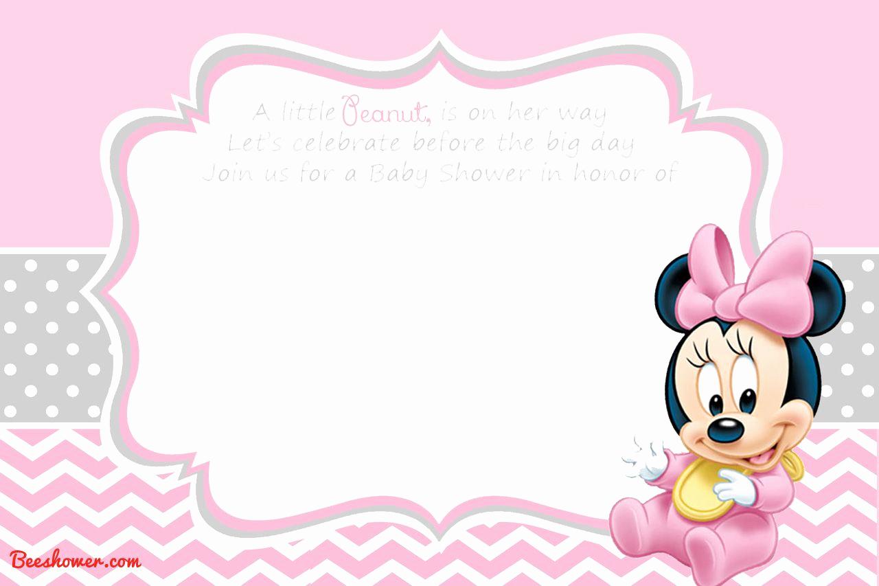 Baby Mickey Invitation Template Beautiful Free Printable Disney Baby Shower Invitations