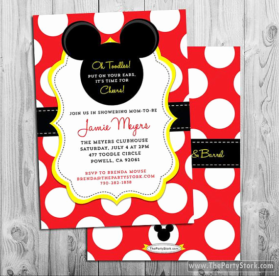 Baby Mickey Invitation Template Beautiful Mickey Mouse Baby Shower Invitations Mickey Mouse Baby Shower