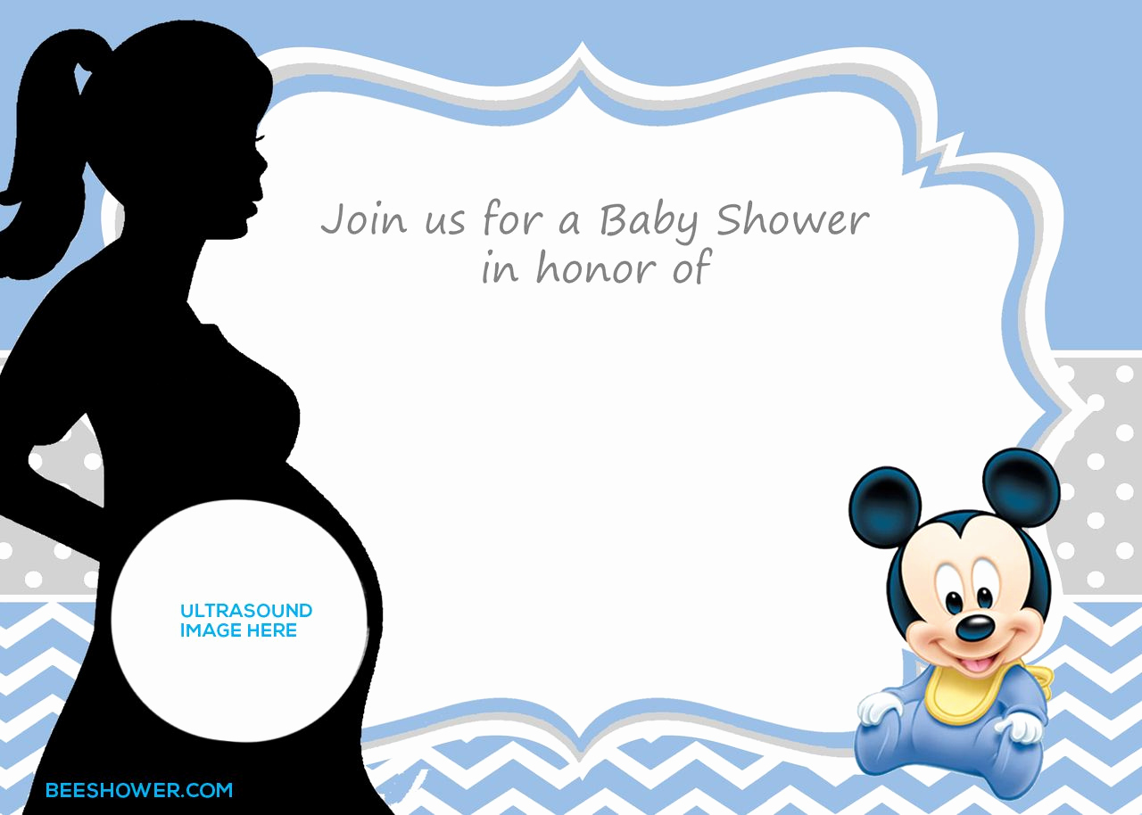 Baby Mickey Invitation Template Fresh Free Printable Mickey Mouse Baby Shower Invitation