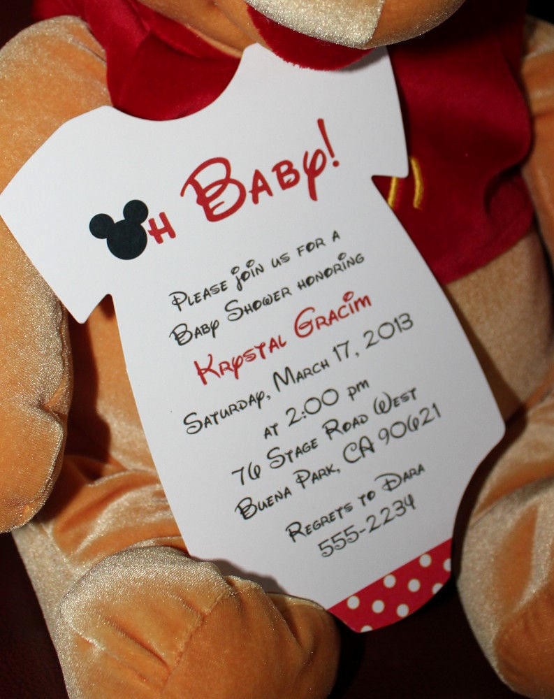 Baby Mickey Invitation Template Luxury Free Printable Baby Mickey Mouse Invitation