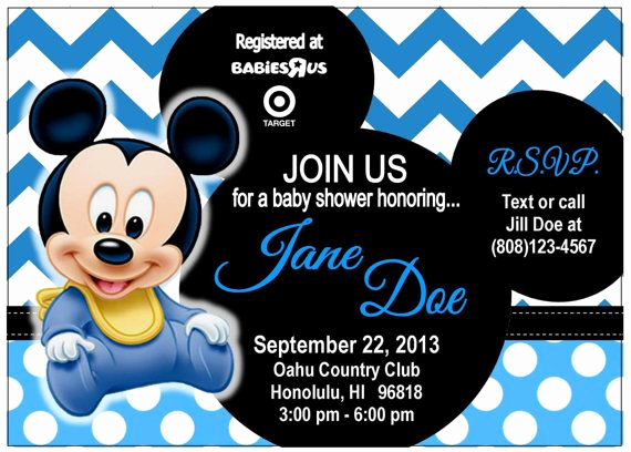 Baby Mickey Invitation Template New 17 Best Images About Baby Shower Mickey On Pinterest