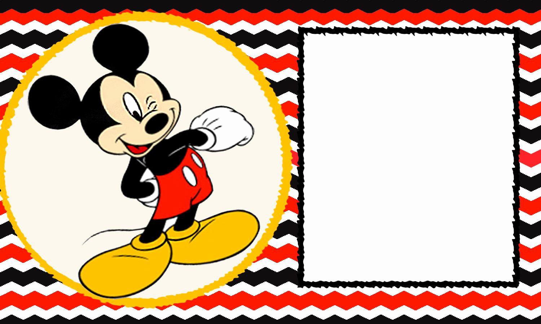 Baby Mickey Invitation Template New Free Blank Mickey Mouse 1st Invitation Chevron Template