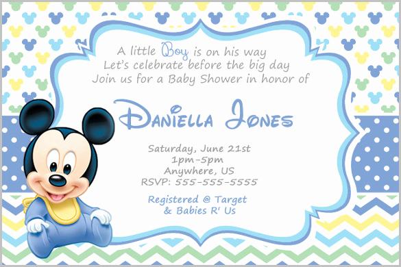 Baby Mickey Invitation Template Unique Mickey Mouse Invitation Templates – 26 Free Psd Vector