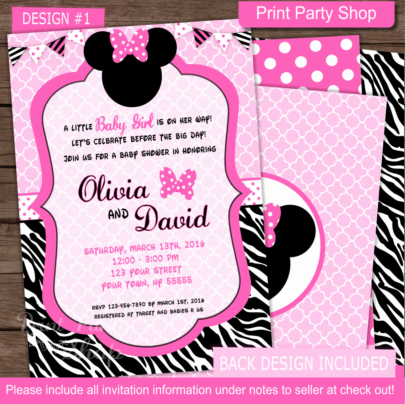 Baby Minnie Mouse Invitation Awesome Minnie Mouse Baby Shower Invitation Baby Shower Invitation