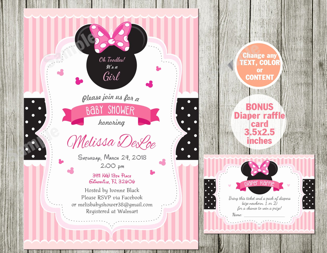 Baby Minnie Mouse Invitation Beautiful Minnie Mouse Baby Shower Invitation Baby Shower Minnie