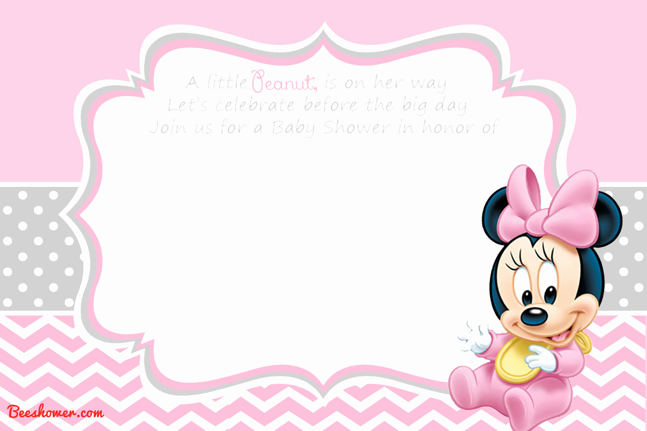 Baby Minnie Mouse Invitation Beautiful New Free Printable Mickey Mouse Baby Shower Invitation