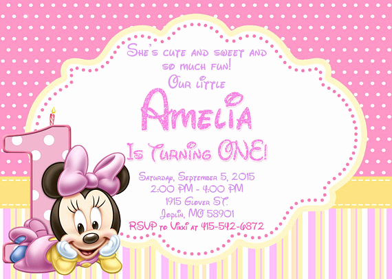 Baby Minnie Mouse Invitation Best Of Baby Minnie Mouse Invitation Birthday Baby Minnie Mouse