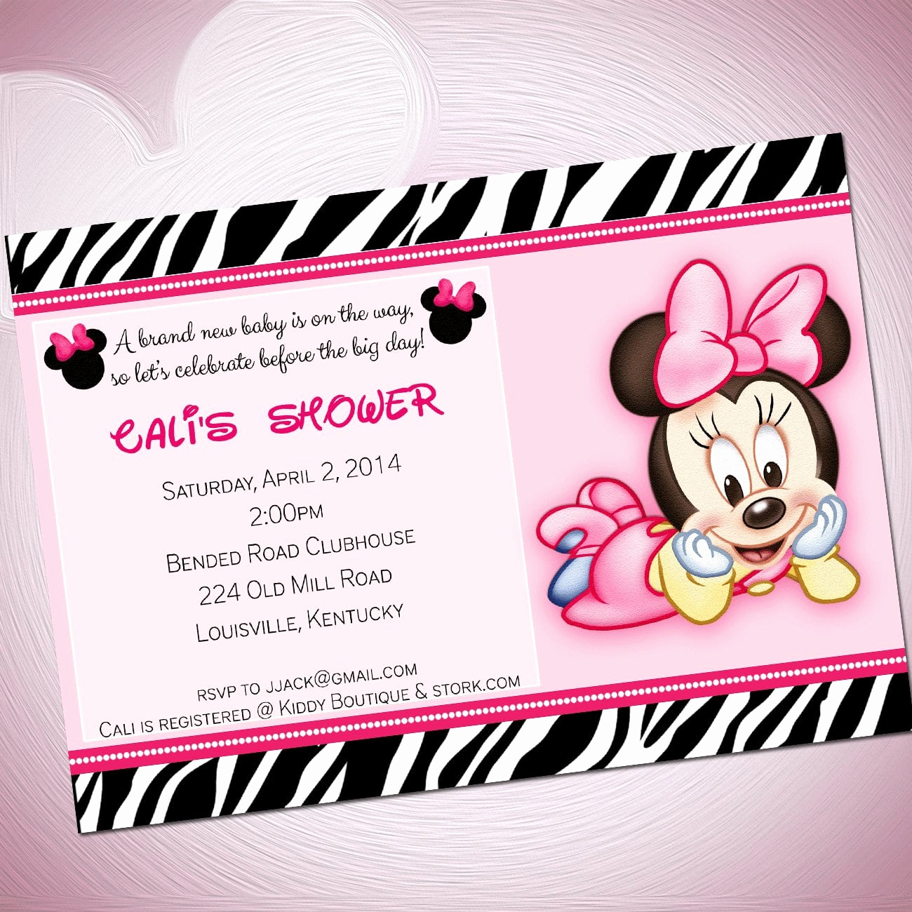 Baby Minnie Mouse Invitation Best Of Baby Minnie Mouse Template Invitations