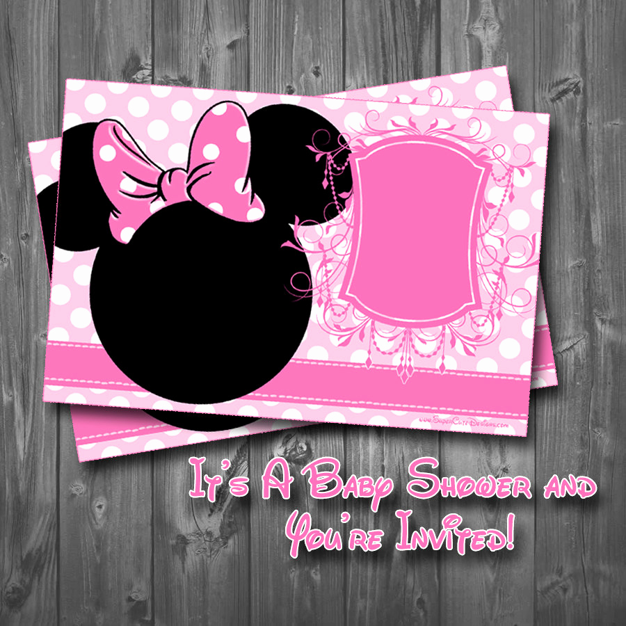 Baby Minnie Mouse Invitation Luxury Minnie Mouse Baby Shower Invitation
