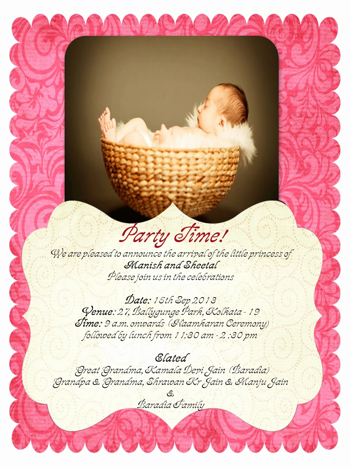 Baby Naming Ceremony Invitation Awesome Rakhi Jain