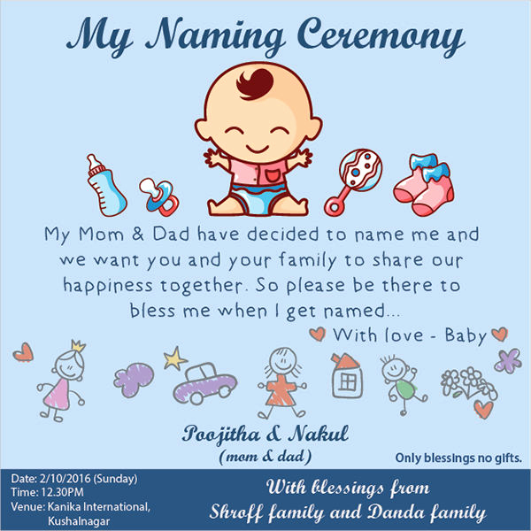 Baby Naming Ceremony Invitation Best Of 7 Naming Ceremony Invitations Download