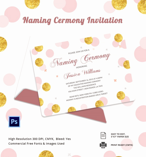 Baby Naming Ceremony Invitation Best Of Sample Invitation Template Download Premium and Free