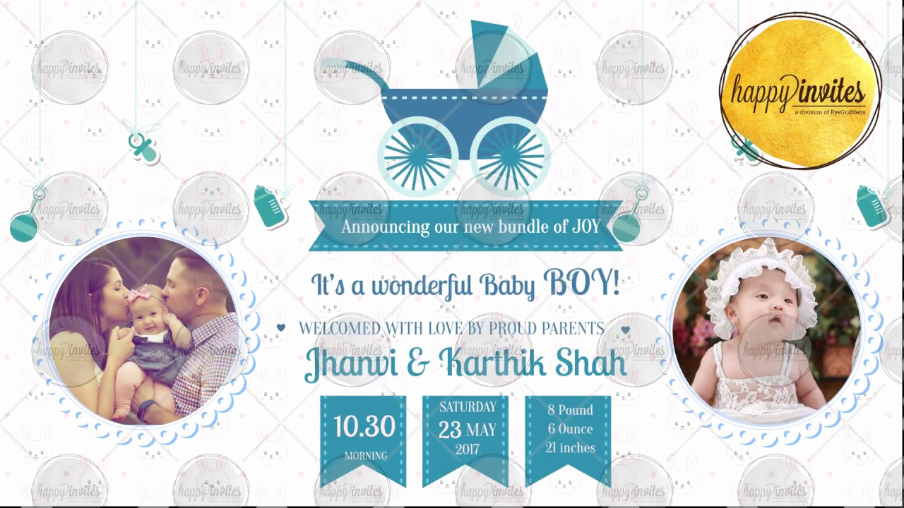 Baby Naming Ceremony Invitation Fresh Baby Boy Naming Ceremony Announcement Video Invitation