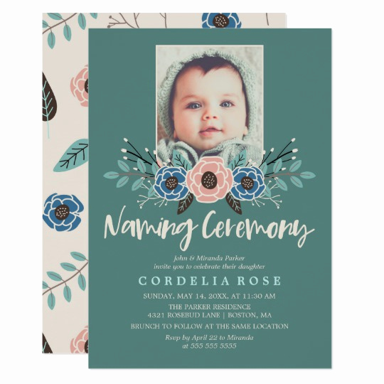 Baby Naming Ceremony Invitation Inspirational Pretty Florals