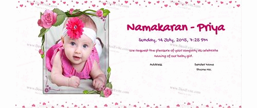 Baby Naming Ceremony Invitation Luxury Free Naming Ceremony Namakaran Invitation Card & Line