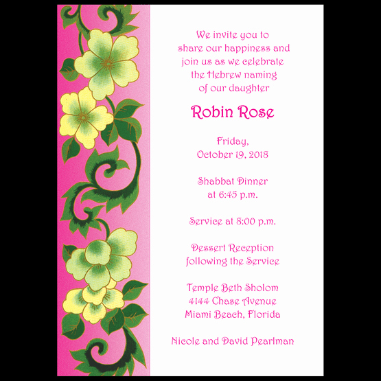 Baby Naming Invitation Wording Awesome Baby Naming Invitation Style Bn 06 ⋆ Ipv Studio