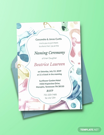 Baby Naming Invitation Wording Awesome Free Baby Naming Ceremony Invitation Template Download