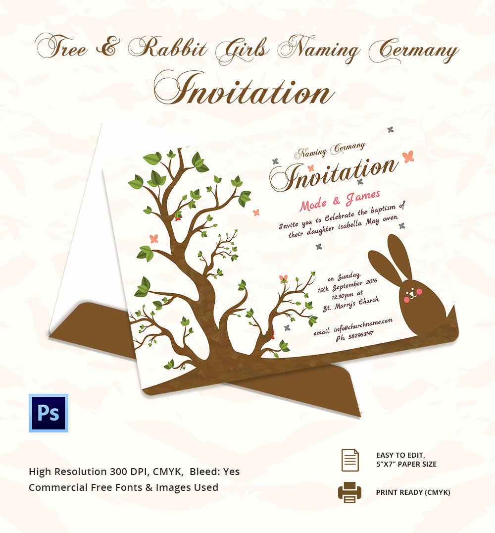 Baby Naming Invitation Wording Fresh 37 Naming Ceremony Invitations – Free Psd Pdf format