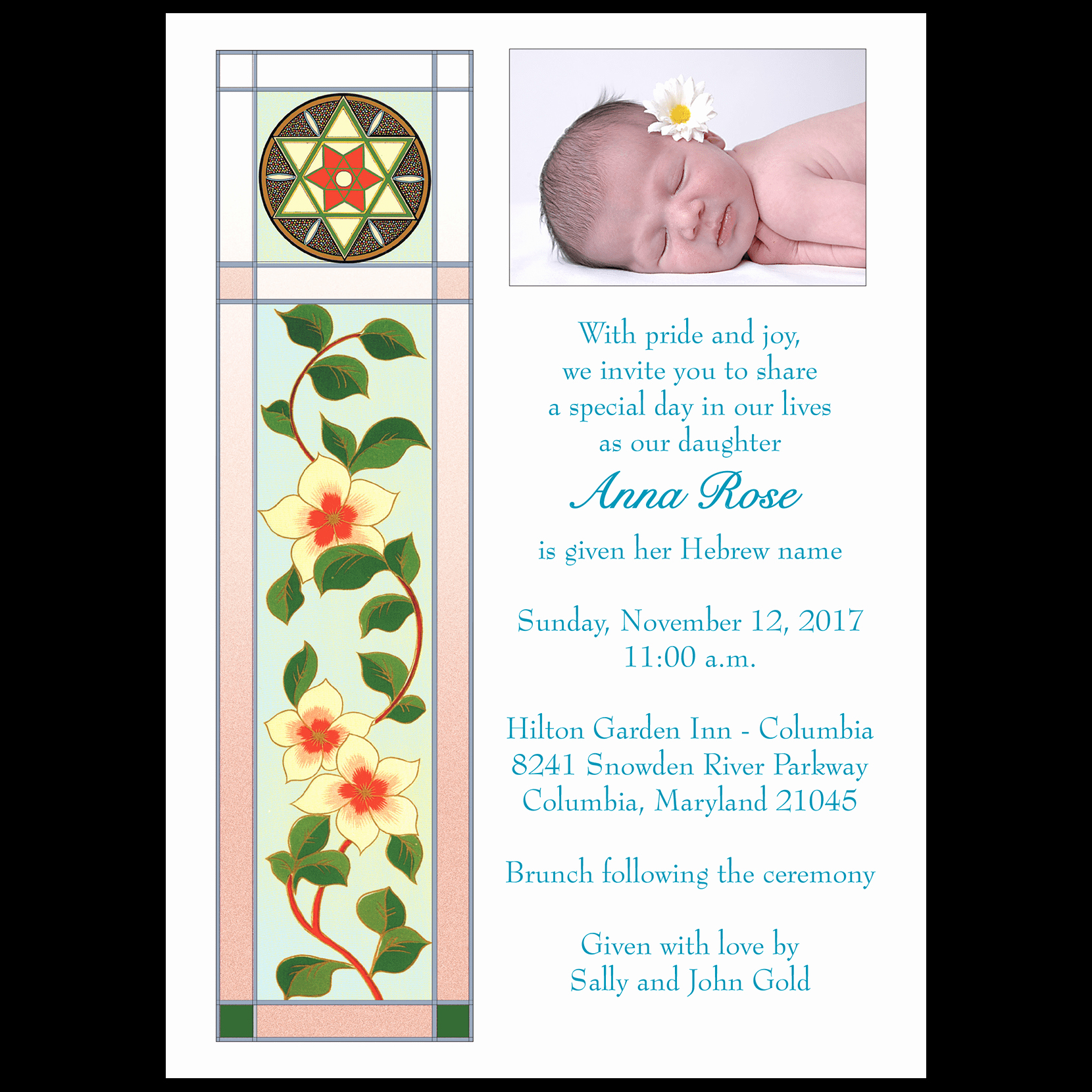 Baby Naming Invitation Wording Lovely Baby Naming Invitation Style Bn 02ci ⋆ Ipv Studio