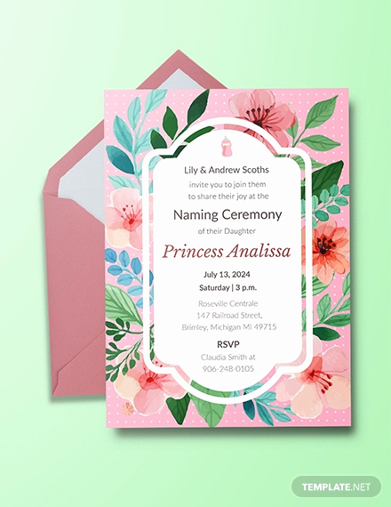 Baby Naming Invitation Wording Luxury Free Baby Naming Ceremony Invitation Template Download