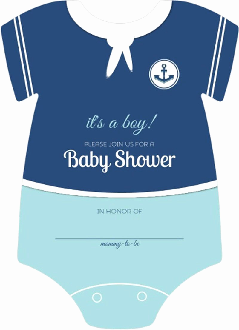 Baby Onesie Invitation Template Elegant Sailor Esie Boys Nautical themed Fill In Blank Baby