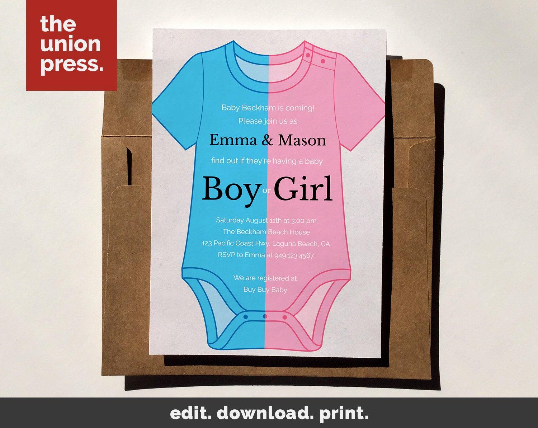 Baby Onesie Invitation Template Fresh Baby Shower Invitation Template Printable Invitation