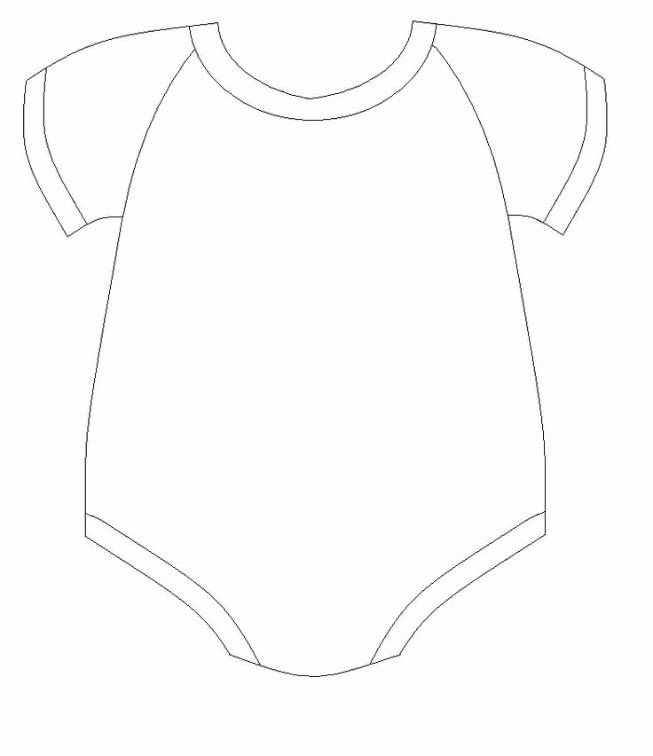 Baby Onesie Invitation Template Lovely Baby Esie Drawing at Getdrawings