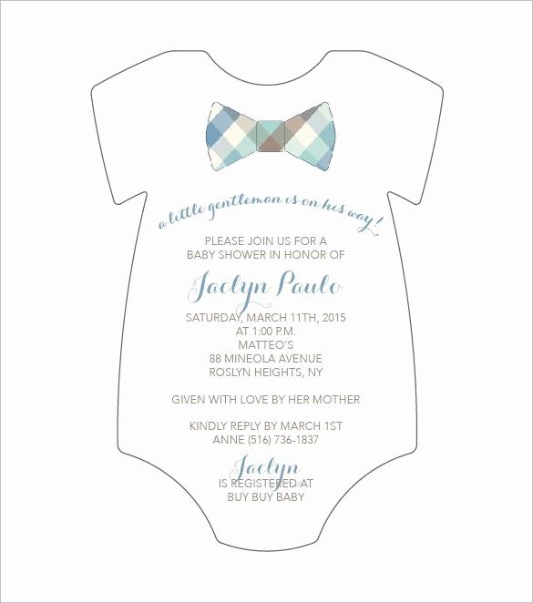 Baby Onesie Invitation Template Lovely Boy Baby Shower Invitation Template Invitation Templates