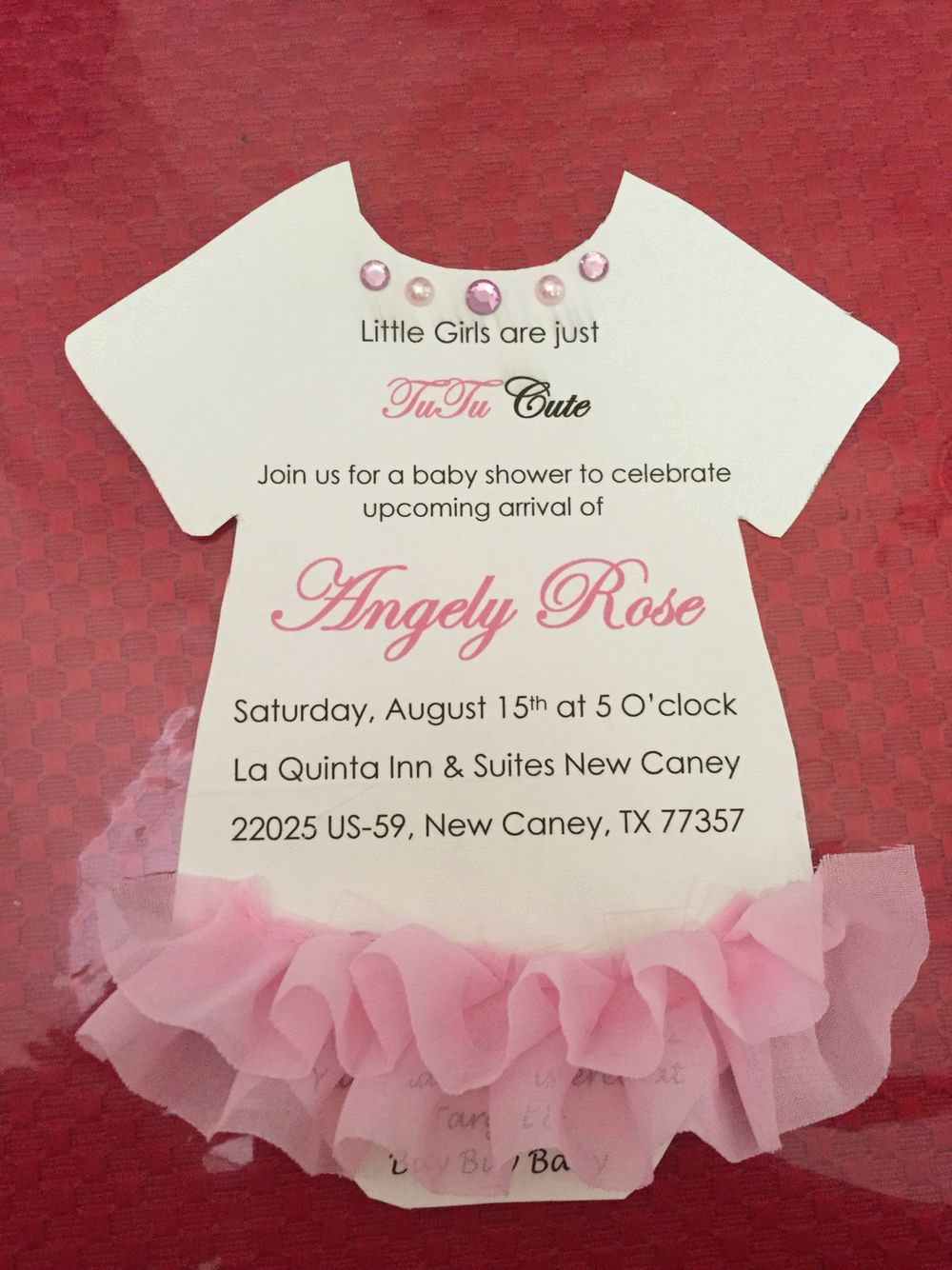 Baby Onesie Invitation Template Luxury Baby Shower for Girls Tutu Baby Shower Pink Invitations