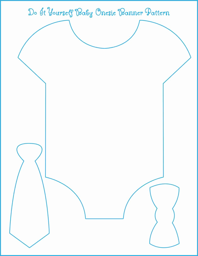 Baby Onesie Invitation Template Unique Template for Our Onesie Bow Tie Banner All We Need is to