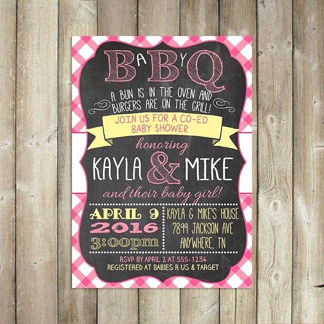 Baby Q Invitation Template Inspirational Baby Q Invitation Babyq Baby Shower Invitation Backyard