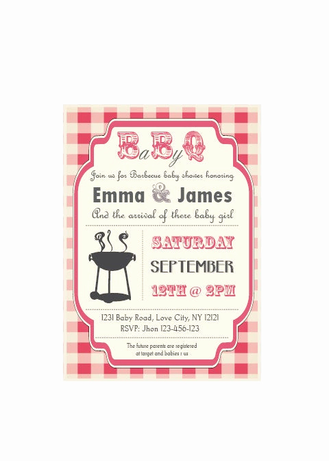 Baby Shower Bbq Invitation Awesome Baby Q Baby Shower Bbq Invitation Couples Boy or Girl
