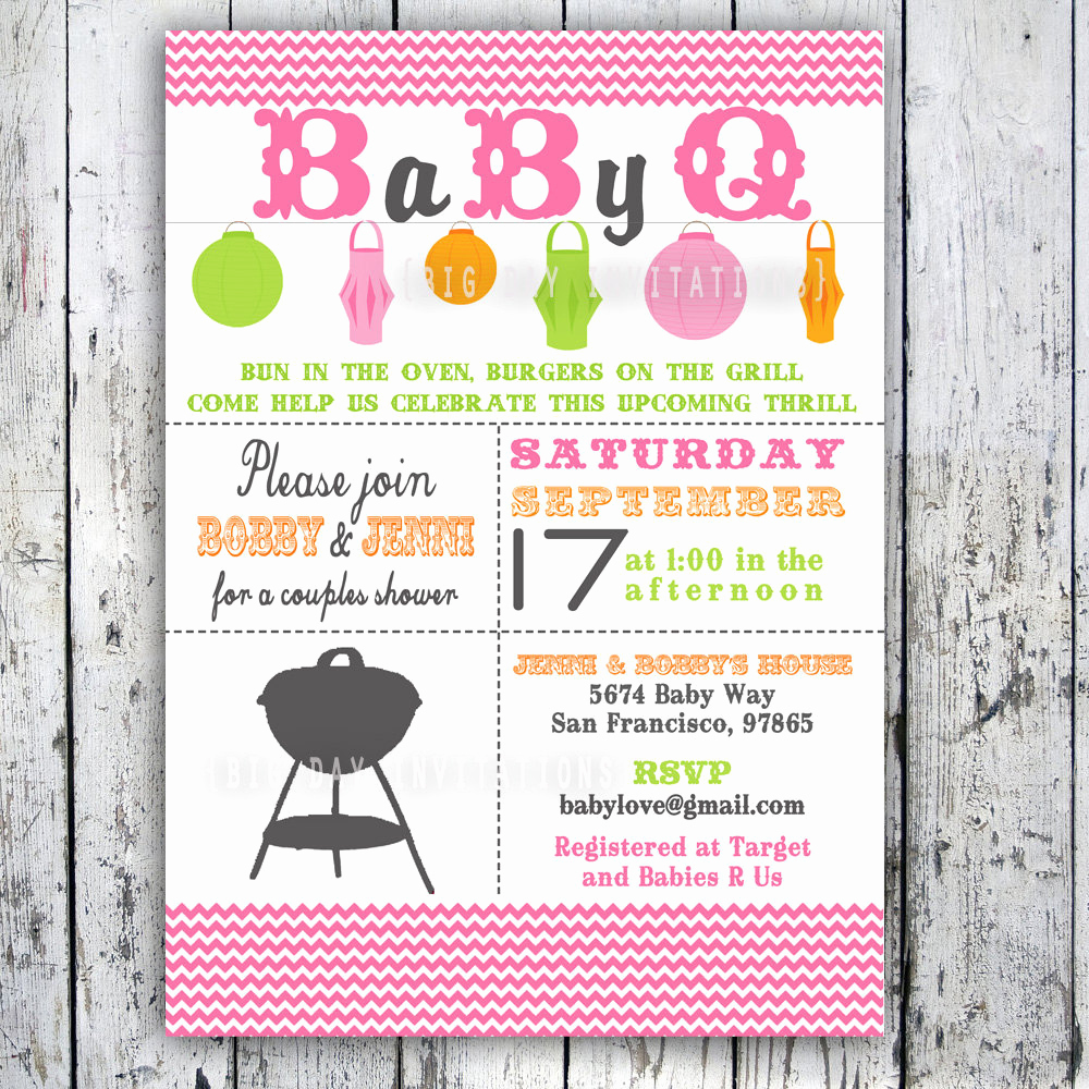 Baby Shower Bbq Invitation Best Of Baby Shower Invitation Baby Q Baby Bbq Digital Printable