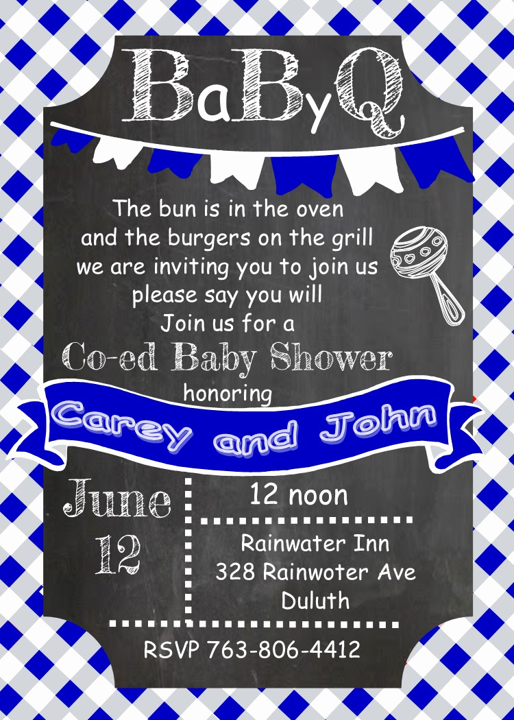 Baby Shower Bbq Invitation Elegant Babyq Baby Shower Invitations Summer 2019