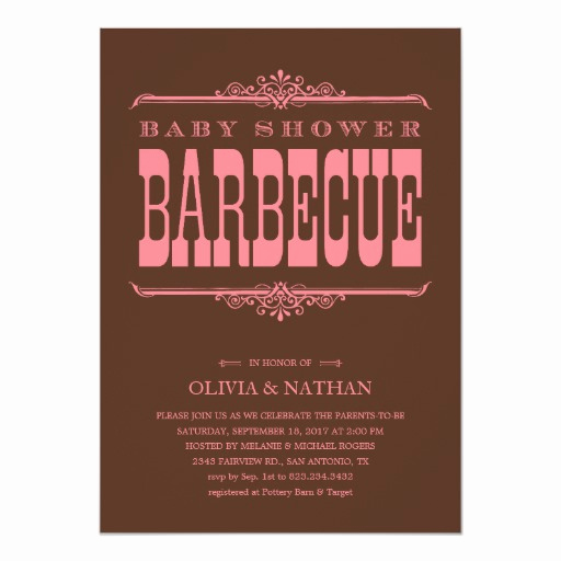 Baby Shower Bbq Invitation Elegant Bbq Baby Shower Invitations